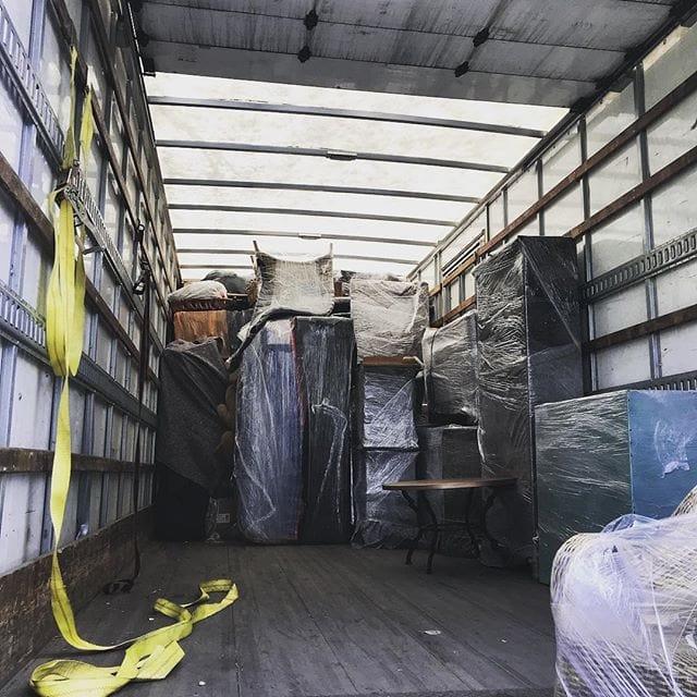 Van being loaded for transport