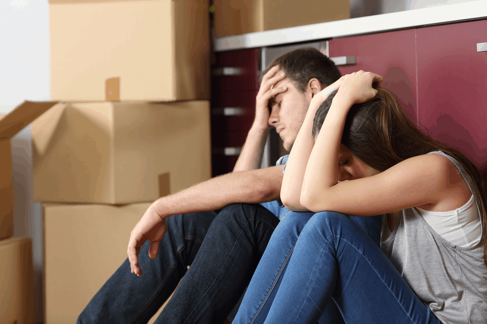 Frustrated Couple, Stressful Move