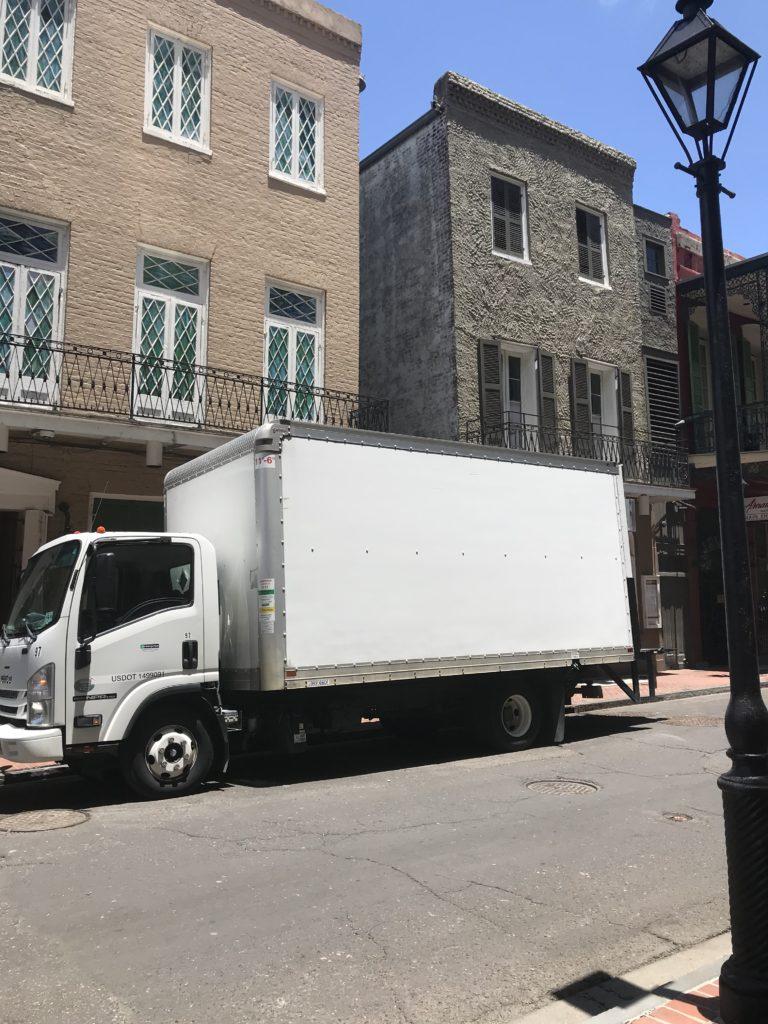 Parked Moving Van on Louisiana Street